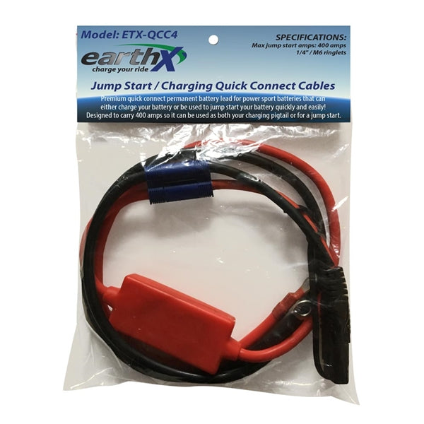 48″ Long Quick Connect Charging/Jump Start Cables