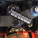 RECKLESS?! - Motorcycle Keychain
