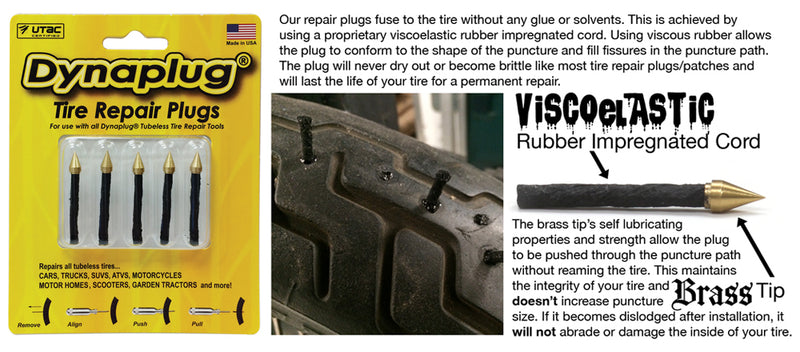 Dynaplug® Tubeless Tire Repair Plugs