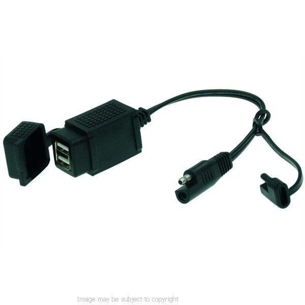 Fenix Weatherproof Motorcycle Dual USB to SAE Charger
