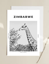 Load image into Gallery viewer, Zimbabwe 'Gerald Giraffe' Print