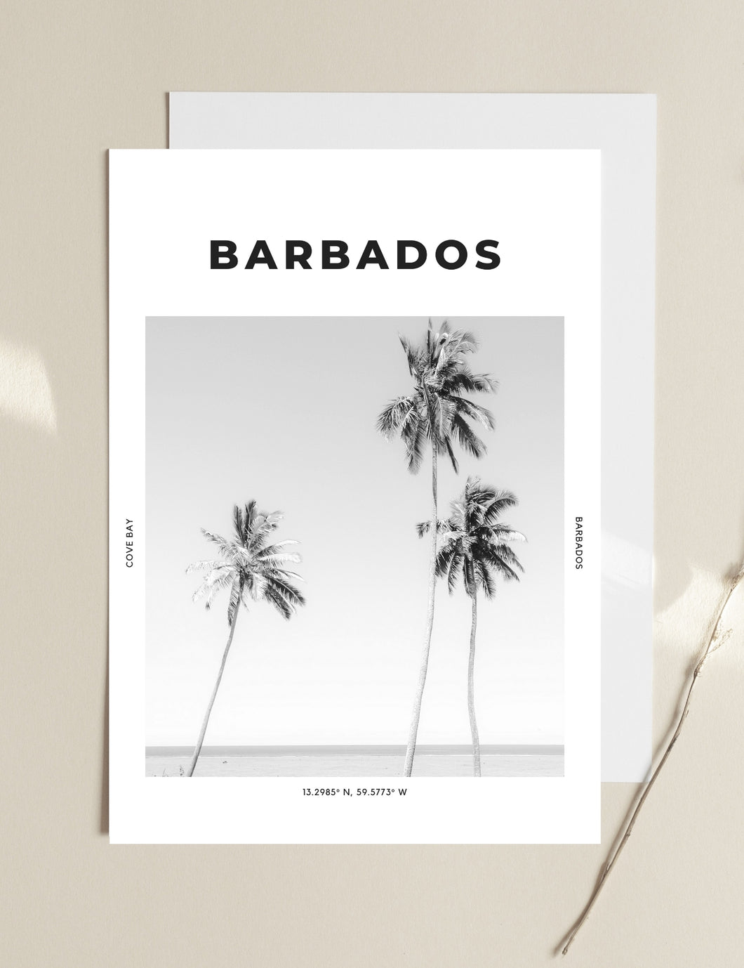Barbados 'Palm Trees And 30 Degrees' Print