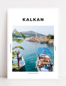 Kalkan 'Breakfast By The Lighthouse' Print