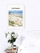 Load image into Gallery viewer, Vietnam 'Green Layers Of Sapa' Print
