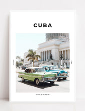 Load image into Gallery viewer, Cuba 'Classic Cars' Print