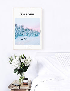 Sweden 'Swedish Lapland And Its Reindeers' Print