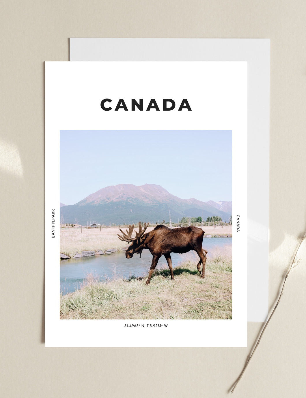 Canada 'First Moose On The Moon' Print