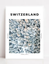 Load image into Gallery viewer, Switzerland 'Winter From Above' Print