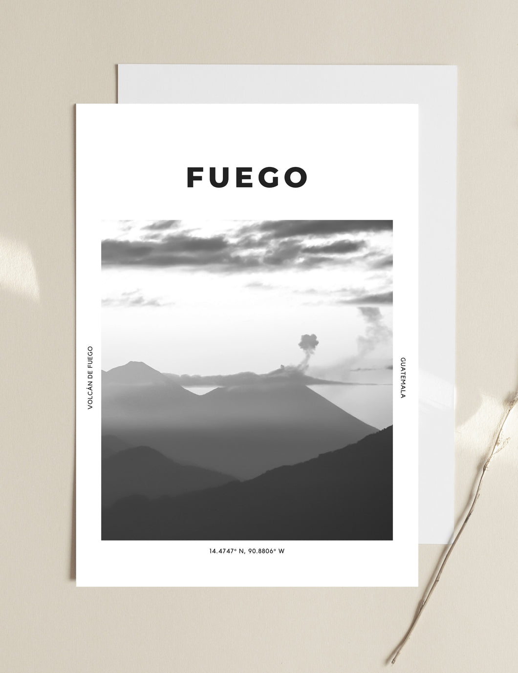 Fuego 'Volcano On Fire' Print
