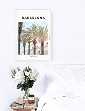 Load image into Gallery viewer, Barcelona 'Barca Palms' Print