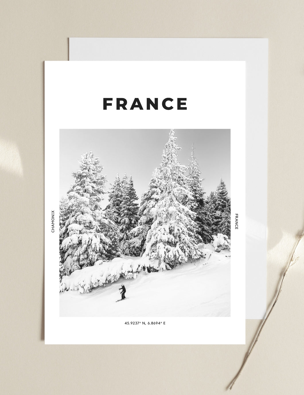 France 'The Slopes Are Calling' Print