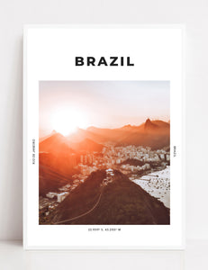 Brazil 'Sugarloaf At Sunset' Print