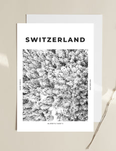 Switzerland 'Winter From Above' Print
