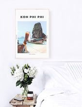 Load image into Gallery viewer, Koh Phi Phi 'Longtail Lineup' Print