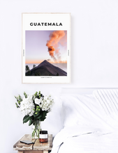 Load image into Gallery viewer, Guatemala 'Orange Mist' Print - TheTravelEdit Travel Print Poster Wall Art Prints Living Room Decor