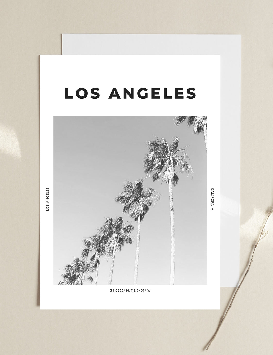 Los Angeles 'Shake Your Palm Palms' Print