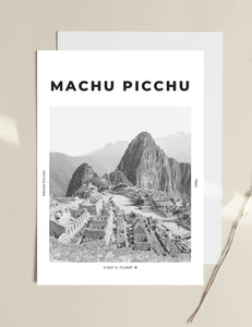 Machu Picchu 'King Of The Mountains' Print