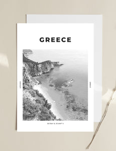Greece 'Turquoise Haven' Print