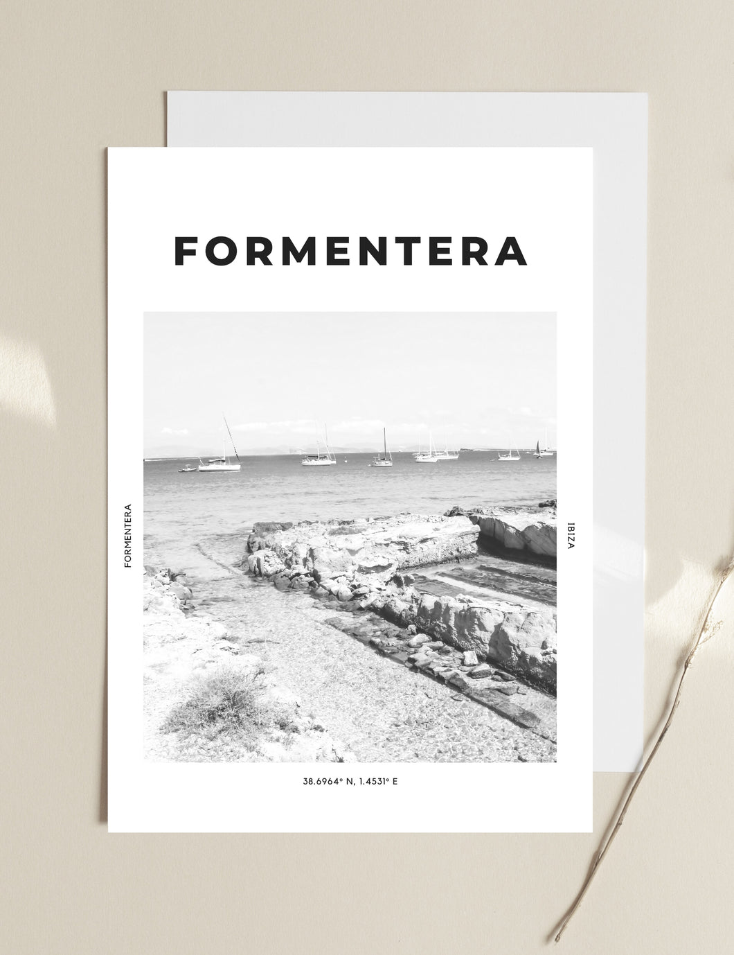 Formentera 'Endless Blue' Print