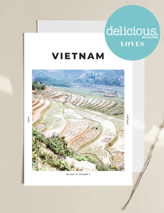 Vietnam 'Green Layers Of Sapa' Print