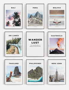 'Insatiable Wanderlust' - Travel Print