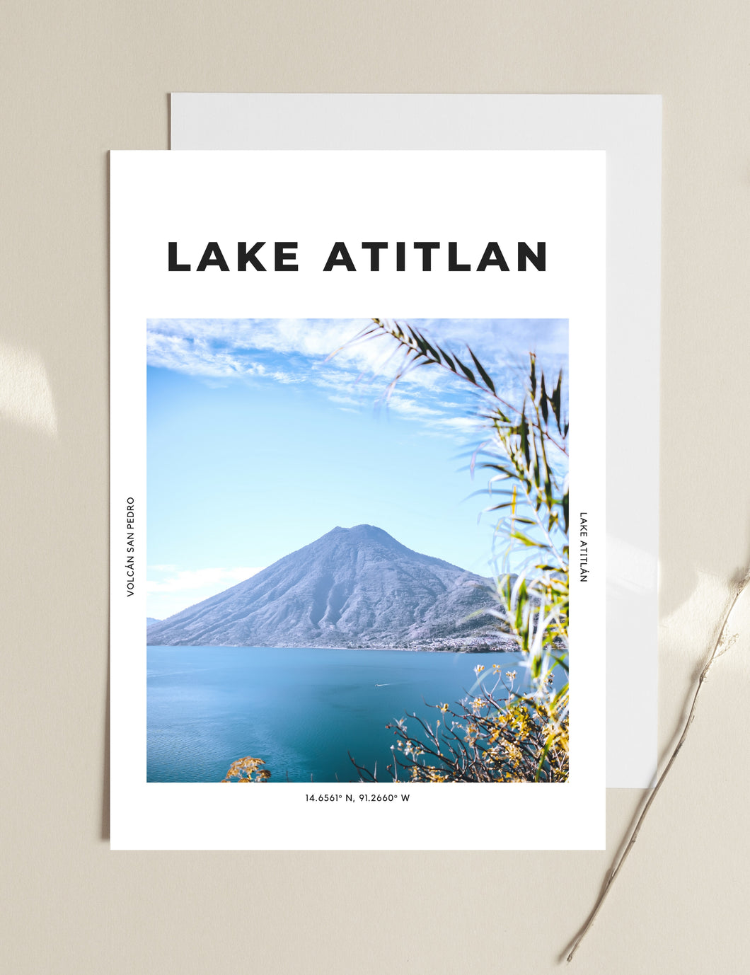 Lake Atitlan 'The Most Peaceful Place On Earth' Print