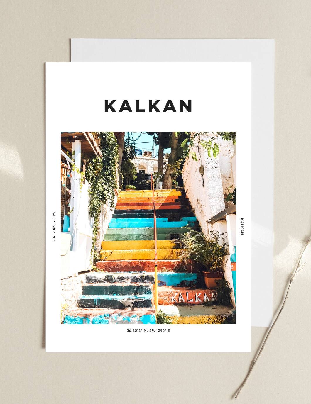 Kalkan 'Step By Colourful Step' Print