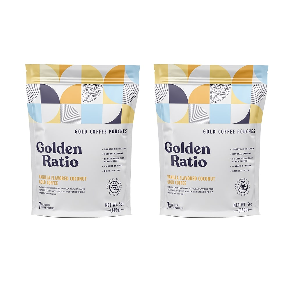 Vanilla Coconut Gold Coffee Pouches 15% OFF
