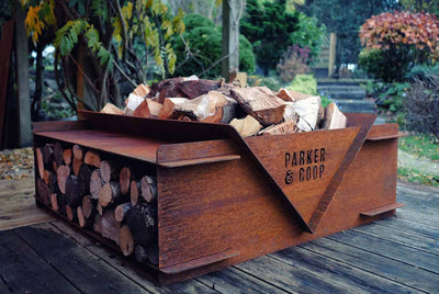 Woodstock Fire Pit Log Store Grill