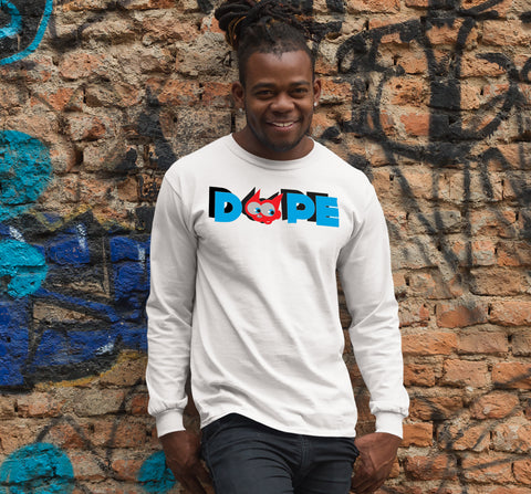 "Pinksick ""Beebo Dope"" Long Sleeve Fitted Crew"