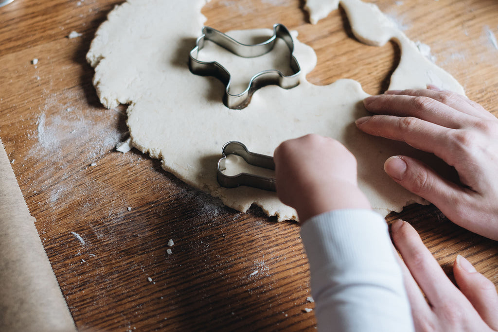 Cutting shapes of the dough