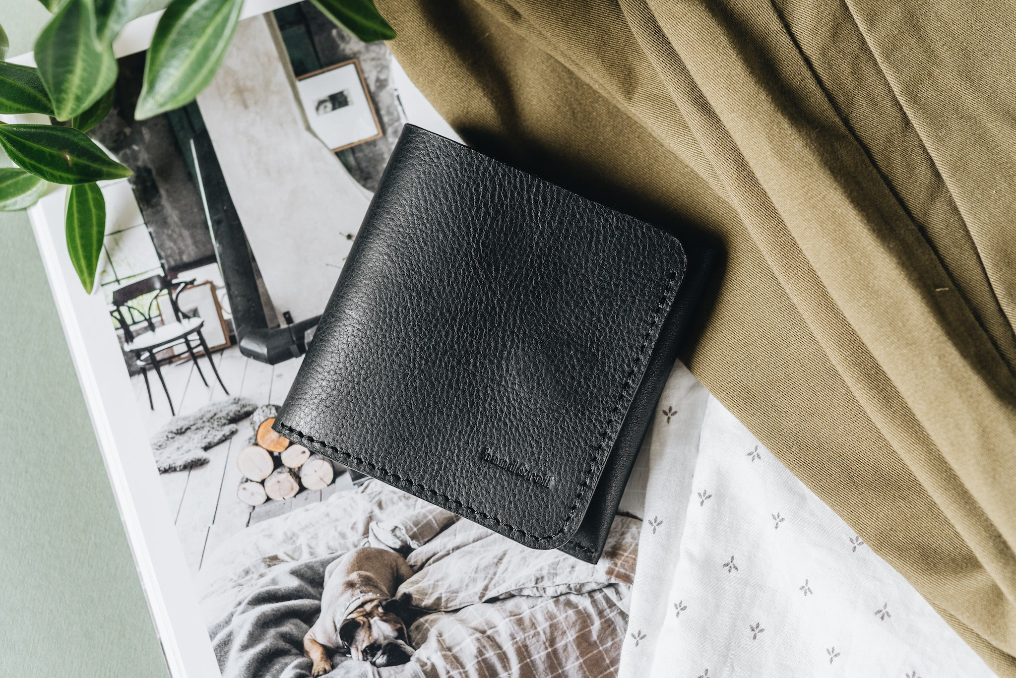"Classic bifold leather wallet ""1966"" - band&roll"