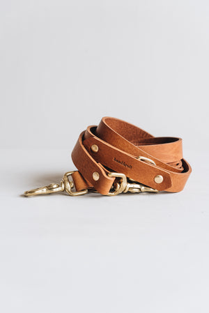 "Dog leather leash ""Lasso"" - band&roll"