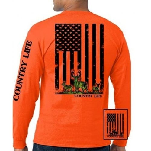 Deer Flag Long Sleeve - Orange