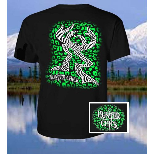 Hunter Chick Cheetah - Black/Green