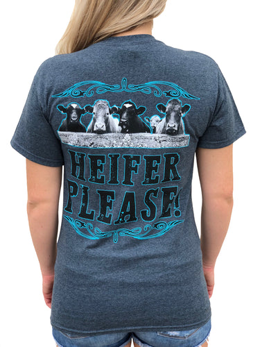 Heifer Please - Gray/Blue