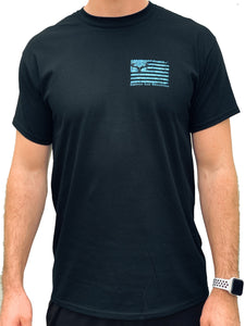 Blue Camo Flag - Black