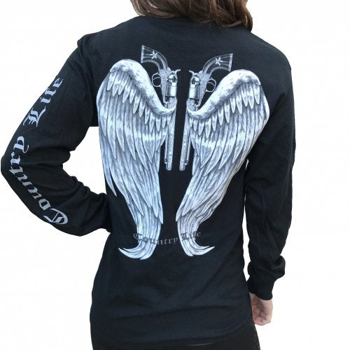 Guns and Wings - Black/Silver