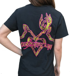 Deer Kiss - Black/Pink