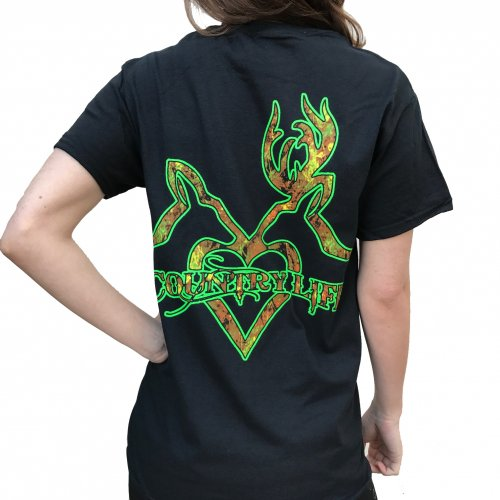 Deer Kiss - Black/Green