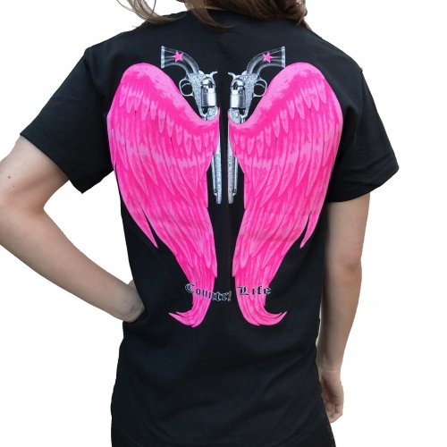 Country Life Wings - Black/Pink