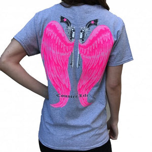 Country Life Wings - Grey/Pink