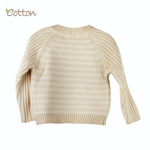 Cozy Organic Cotton Baby Cableknit Pullover Top