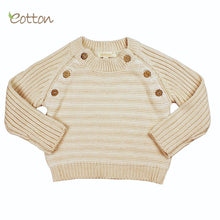 Load image into Gallery viewer, Cozy Organic Cotton Baby Cableknit Pullover Top