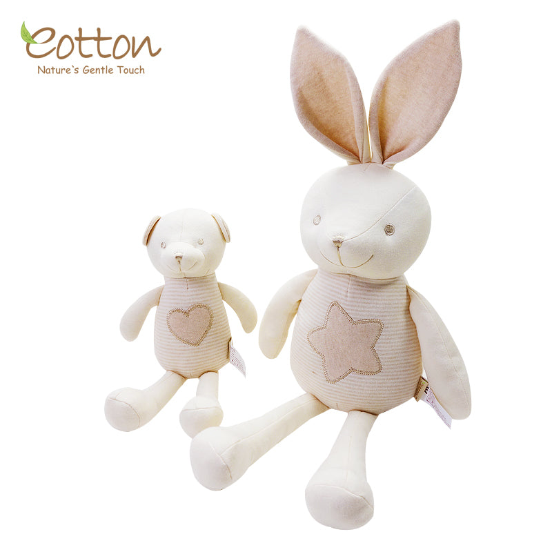 Rabbit baby soft toy made by GOTS certified organic cotton