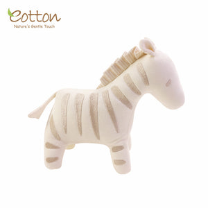 Organic & Nature Colored Cotton Soft Toy Oliva Zebra