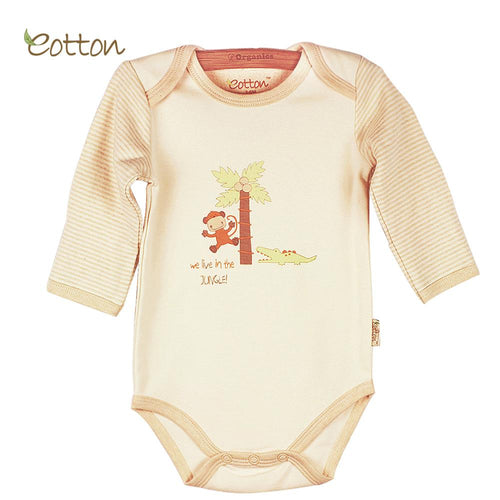 Long sleeve bodysuit Clothing eotton 0-3M Monkey