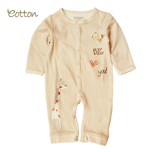 Long Sleeve Romper Clothing eotton Newborn 00 Girffe&Bird