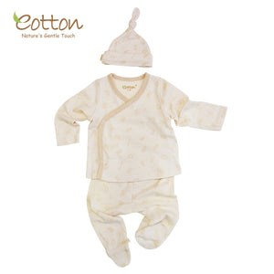 Ultra Soft Organic Cotton Baby Kimono Legging Hat Suit