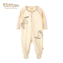 Load image into Gallery viewer, New Organic Cotton Newborn Baby Feetie Romper | Warm Soft